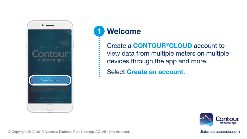 Get started by selecting the Create an Account button